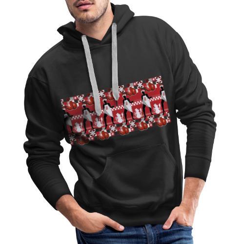 Motif Noël J'ai les boules (sans texte) - Sweat-shirt à capuche Premium pour hommes