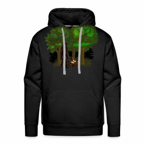 Bigfoot Campfire Forest - Men's Premium Hoodie