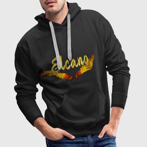 ELCANO Schriftzug mit Fackel - Männer Premium Hoodie
