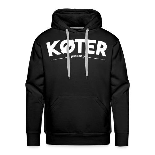 plyed logo koter withe - Männer Premium Hoodie