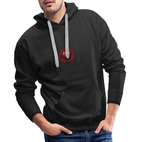 coeur rouge - Sweat-shirt à capuche Premium pour hommes