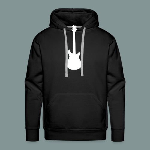 White Guitar - Sweat-shirt à capuche Premium pour hommes