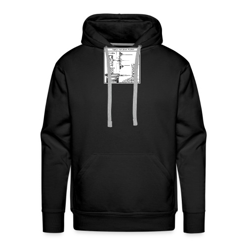 W.O.T War tactic, tank shot - Men's Premium Hoodie