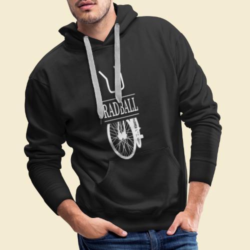 Radball   Retro White - Männer Premium Hoodie
