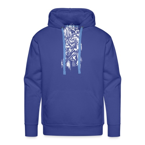 Samurai / White - Abstract Tatoo - Men's Premium Hoodie