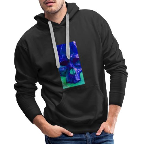 Blue Skull - Mannen Premium hoodie