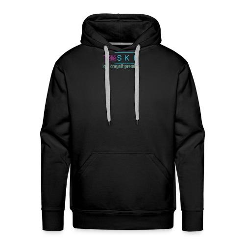 Téléski qui croyait prendre - Sweat-shirt à capuche Premium pour hommes