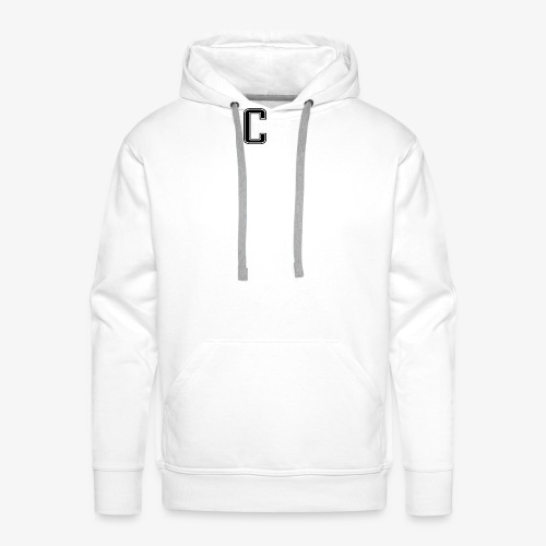thiccc logo Black and White - Men's Premium Hoodie