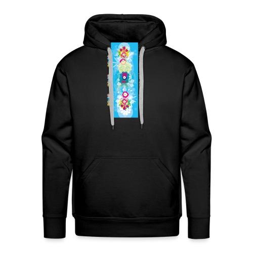 melange color - Sweat-shirt à capuche Premium pour hommes