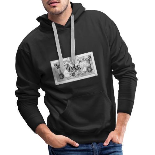 Maglietta Banconota Bitcoin 1 - Felpa con cappuccio premium da uomo