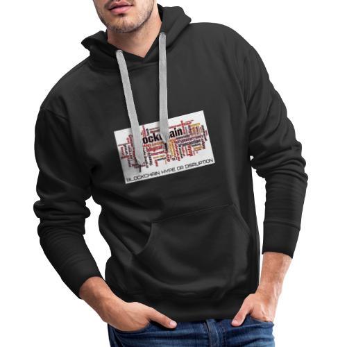 Maglietta Blockchain - Felpa con cappuccio premium da uomo