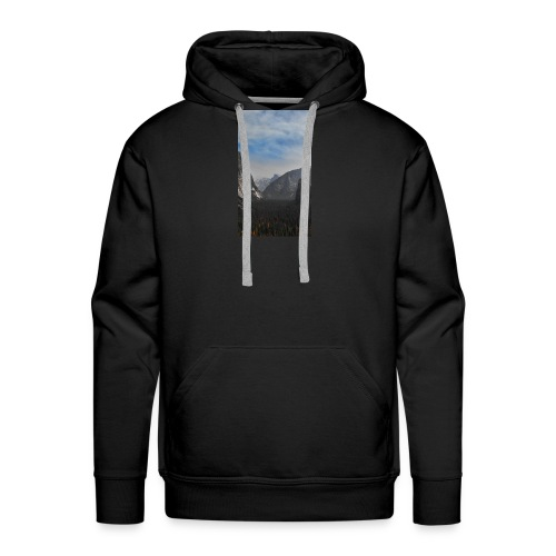 Mountain with trees - Männer Premium Hoodie