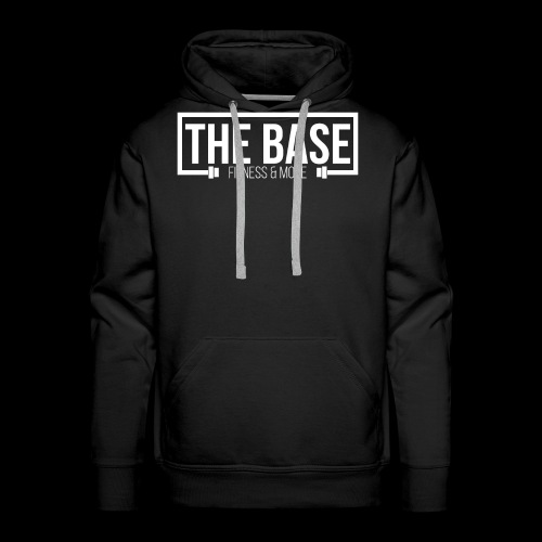 The Base Fitness and More Logo Zwart - Mannen Premium hoodie
