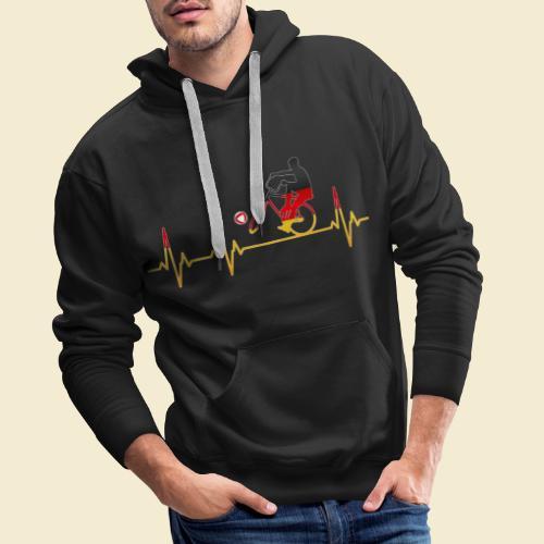 Radball   Cycleball Heart Monitor Germany - Männer Premium Hoodie