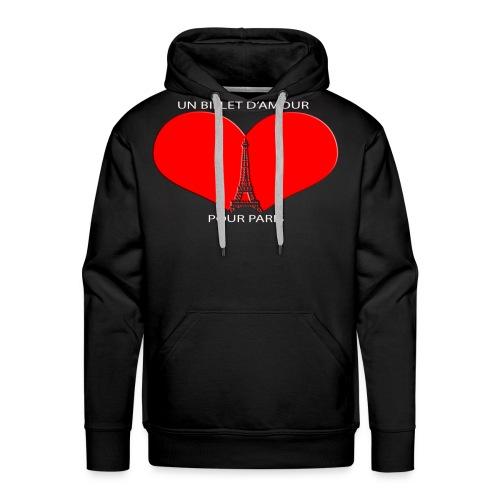 UBP PARIS LOGO ROUGE - Sweat-shirt à capuche Premium pour hommes