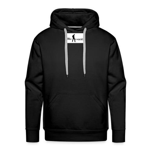 men stripacademy logo wei - Männer Premium Hoodie