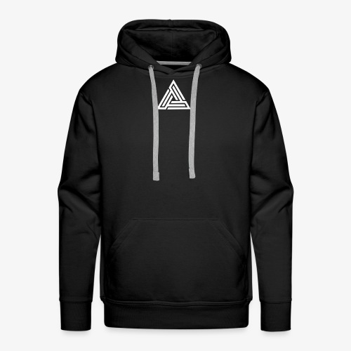 White Triangle Logo | Sweatshirt - Men's Premium Hoodie
