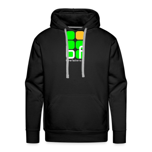 emblem farbig text schwarz - Männer Premium Hoodie