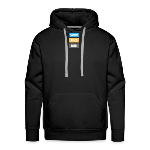 Triathlon Apparel: Swim Bike Run - Men's Premium Hoodie