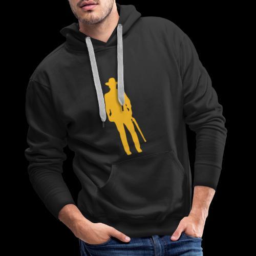 Vaquero del Oeste / Silueta - Sudadera con capucha premium para hombre