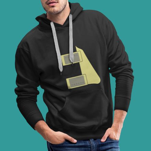 Humbucker Pickups and Pickguard - Men's Premium Hoodie