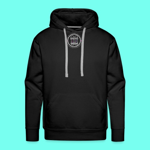 White Pause Circular Logo - Men's Premium Hoodie