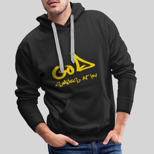 Gott lächelt Dich an - God smiles at you - Männer Premium Hoodie