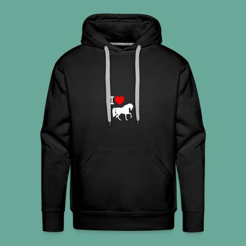 Love Horses - Mannen Premium hoodie