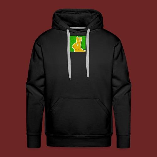 Konijn met groene achtergrond - Mannen Premium hoodie