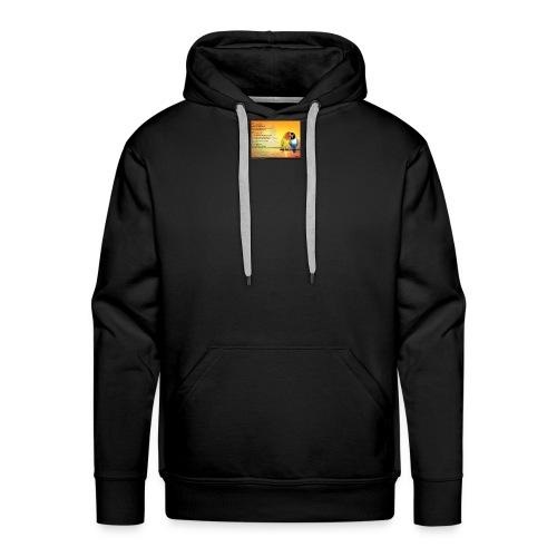 Poème d'amitié - Sweat-shirt à capuche Premium pour hommes