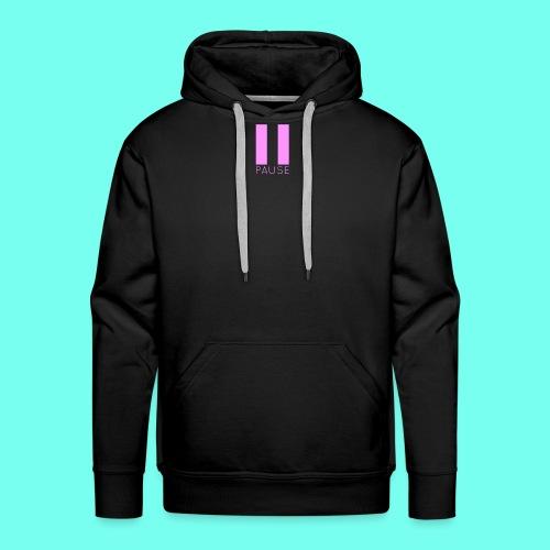 Pink Pause Logo - Men's Premium Hoodie