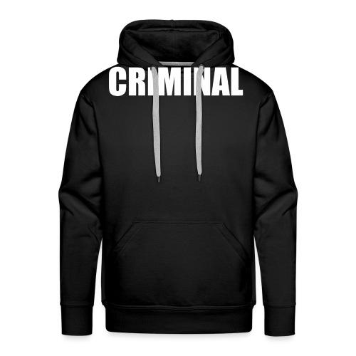 CRIMINAL - Sweat-shirt à capuche Premium pour hommes