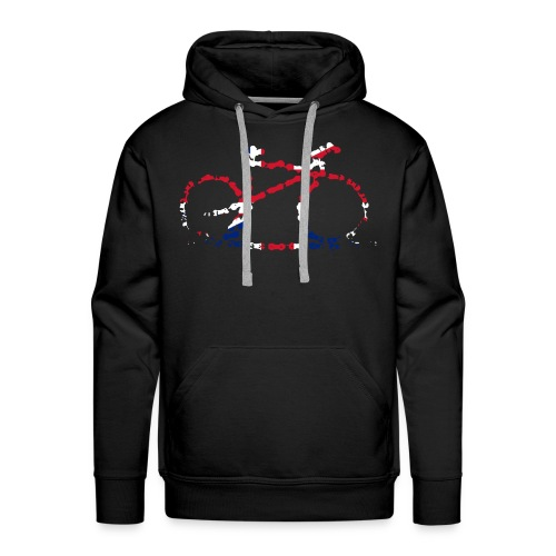 GB Cycling Chain Print - Men's Premium Hoodie