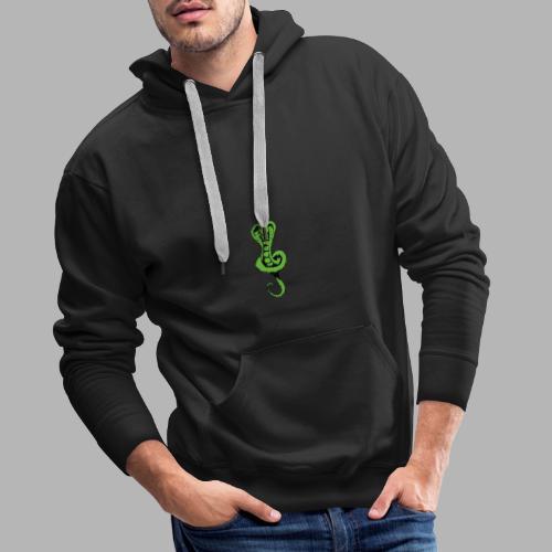 Schlange klein vorne - Schrift hinten - Männer Premium Hoodie