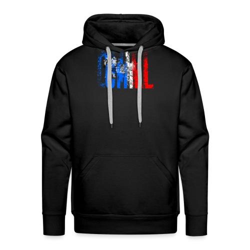 Chill France - Sweat-shirt à capuche Premium pour hommes