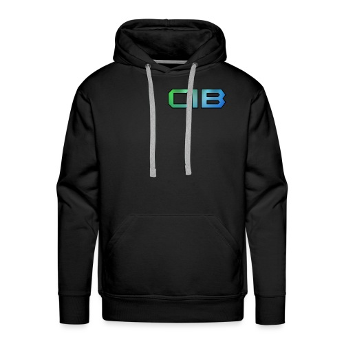 CuzImBacon Grønn og Blå logo - Premium hettegenser for menn