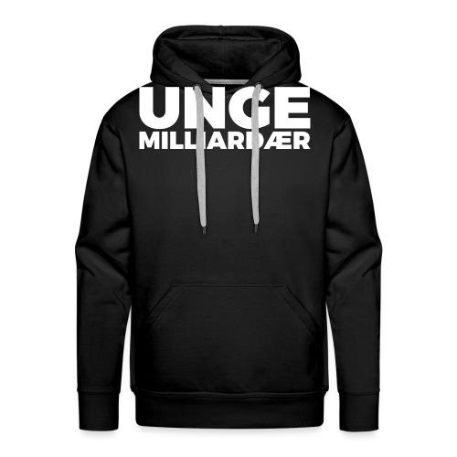unge-mill-logo-hvit - Premium hettegenser for menn