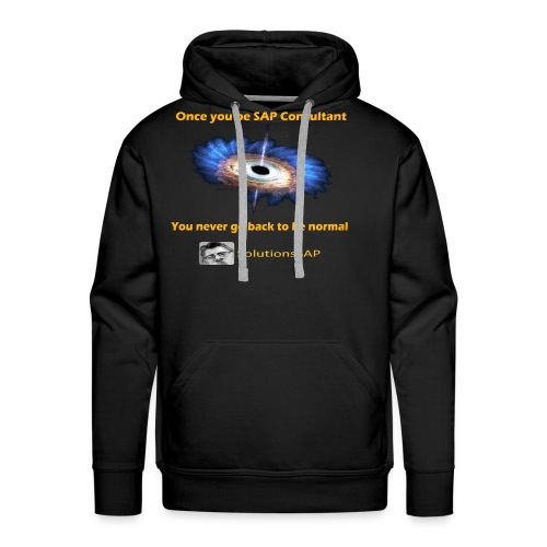 Black Hole - Sudadera con capucha premium para hombre