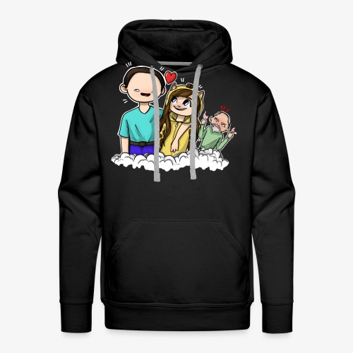 *Limited Edition* Esmee ❤️ Teun (Boze vader) - Mannen Premium hoodie
