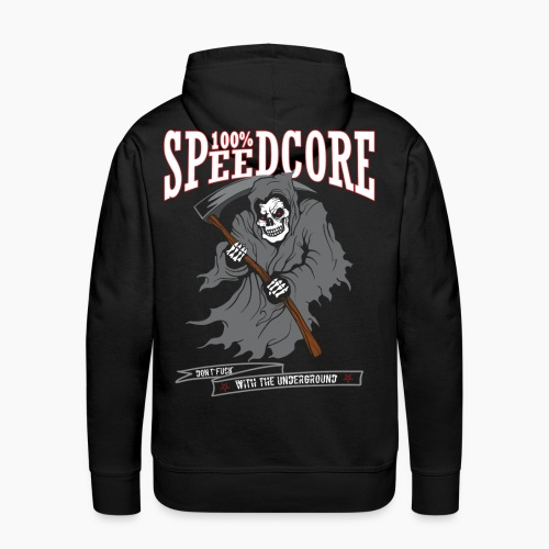 100% Speedcore - Don't Fck With The Underground - Men's Premium Hoodie