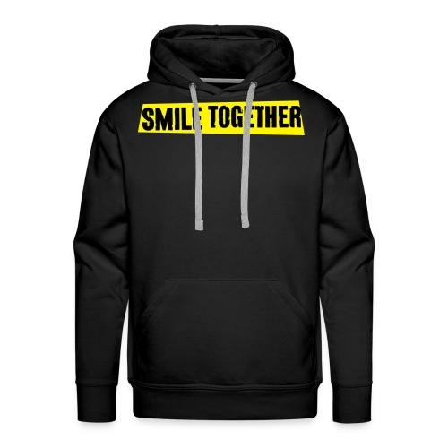 Smile Together Black Yellow - Men's Premium Hoodie