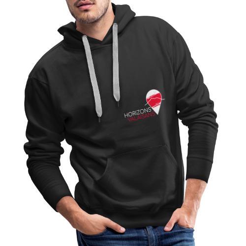 Horizons Valaisans (blanc) - Sweat-shirt à capuche Premium pour hommes