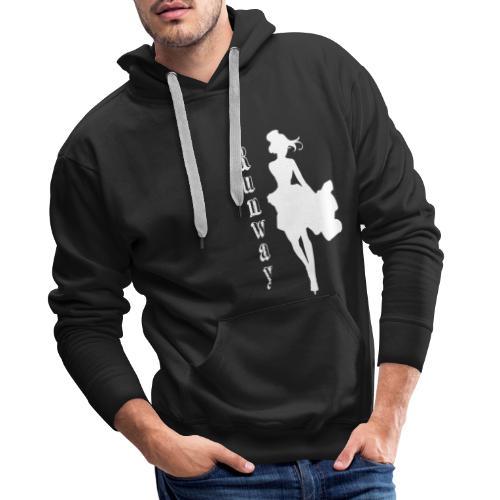 RunWay White - Sweat-shirt à capuche Premium pour hommes