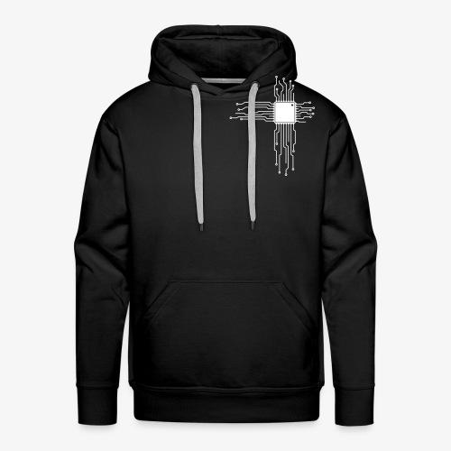 Platine als Herz - Computer CPU Nerd T-Shirt - Männer Premium Hoodie