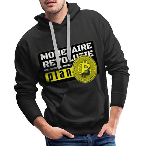 Bitcoin Revolutie - Mannen Premium hoodie