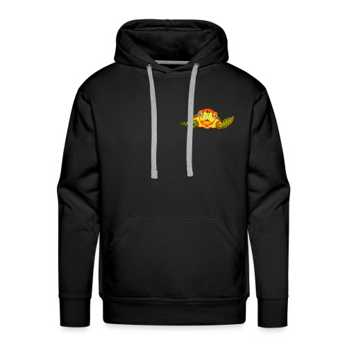Angry Turtle Fluo - Sweat-shirt à capuche Premium pour hommes