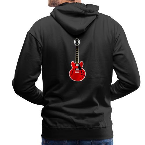 Guitare dos / Vully Blues classique poitrine - Männer Premium Hoodie