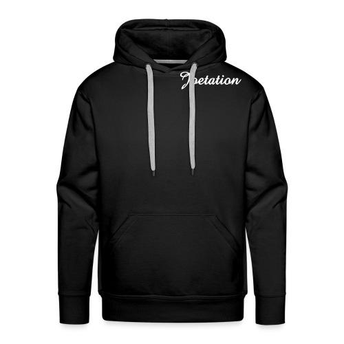 White Text Joetation Signature Brand - Men's Premium Hoodie