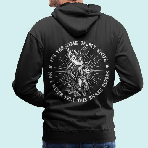 HELL apparel | THE TIME OF MY KNIFE | 2019 - Männer Premium Hoodie