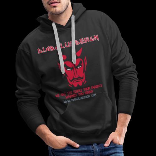 Ol Diabolus Head VECTOR - Men's Premium Hoodie